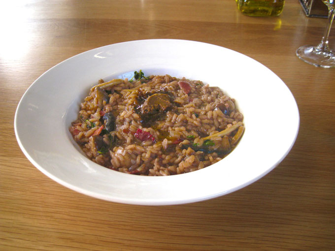 Exotic Mushroom And Red Wine Risotto With Black Garlic Butter - South ...